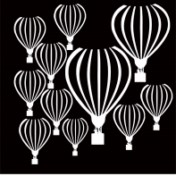 up up and away balloons 8x8 200 x 200   with mask   sold in 3